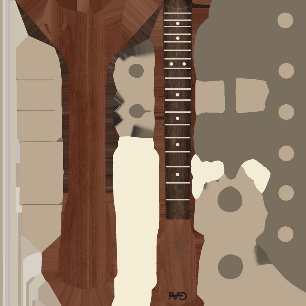 Guitar Lp Neck BaseColor