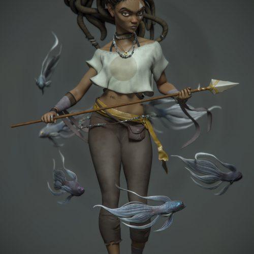 Huntress - Artwork by Ackeem Durrant