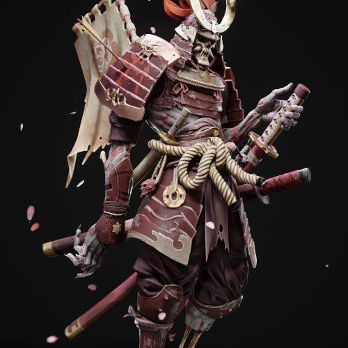 Skeleton Warrior (Real-time) - Artwork by Ackeem Durrant