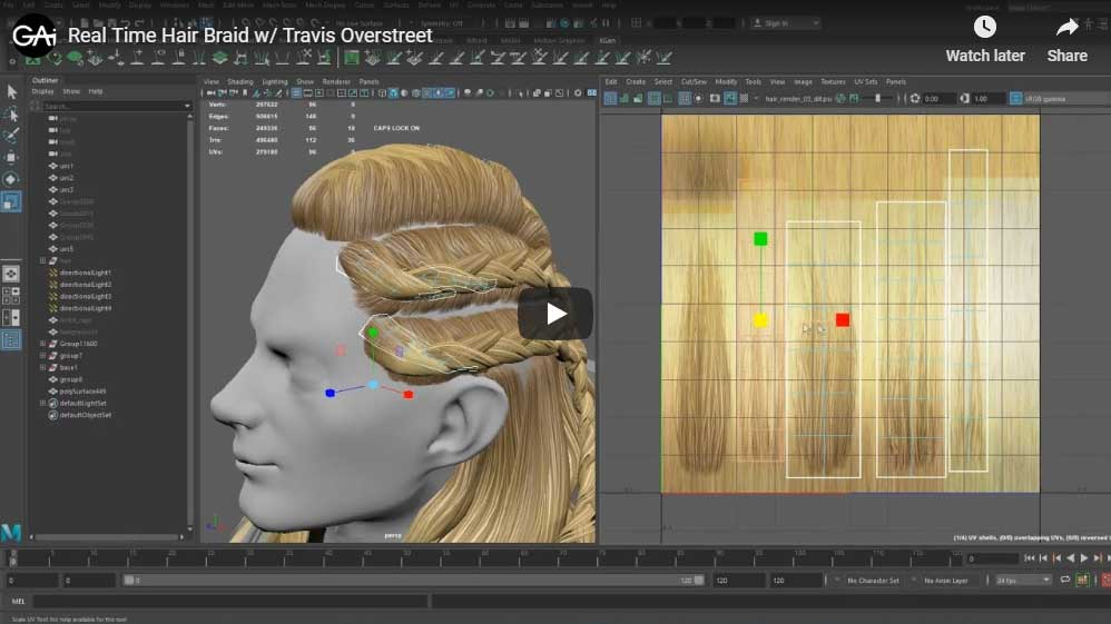travis tutorial hair thumb