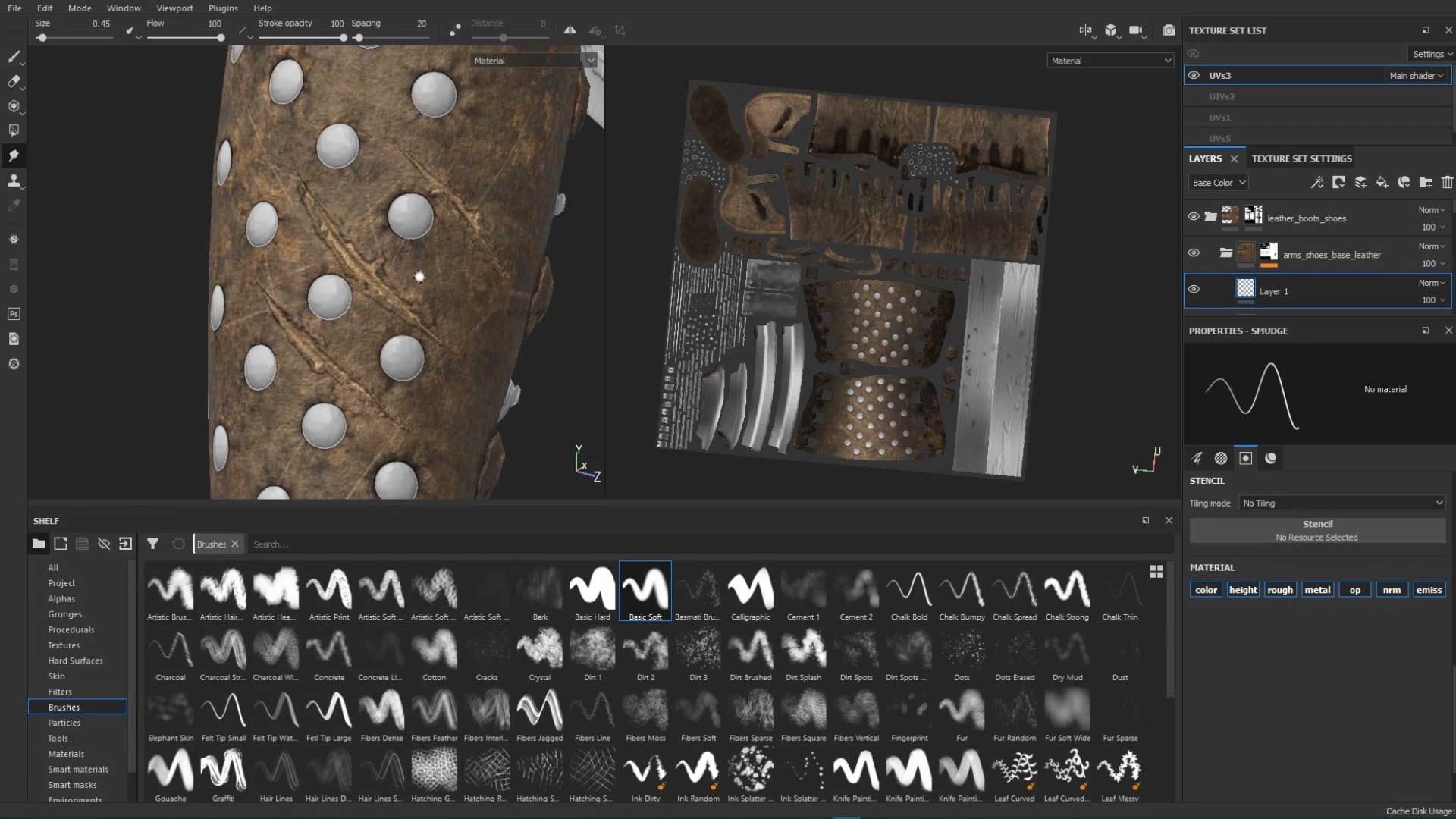 Texturing Realistic Leather Gauntlet In Substance Painter