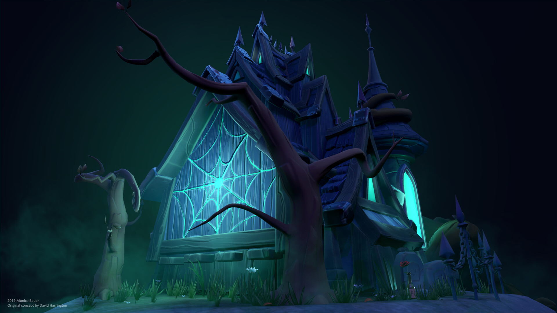 Scene from Spooky House by Environment Artist Monica Bauer