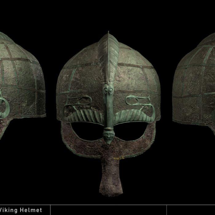 3D image of Viking war helmet