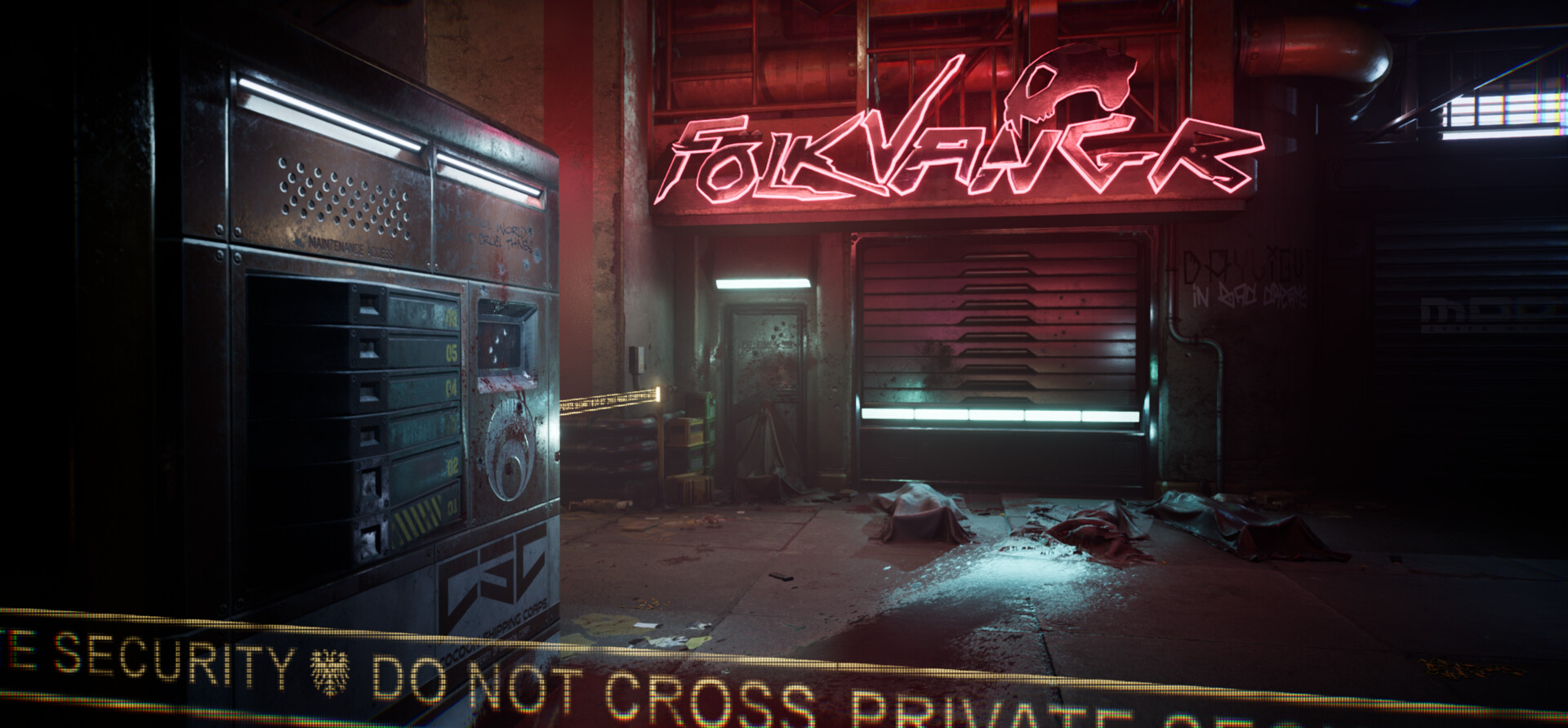 Folkvangr, Cyberpunk Crime Scene by Travis O'Connor
